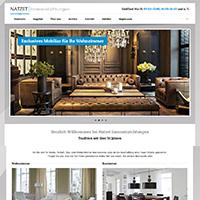 Webseite für ein Möbel Haus