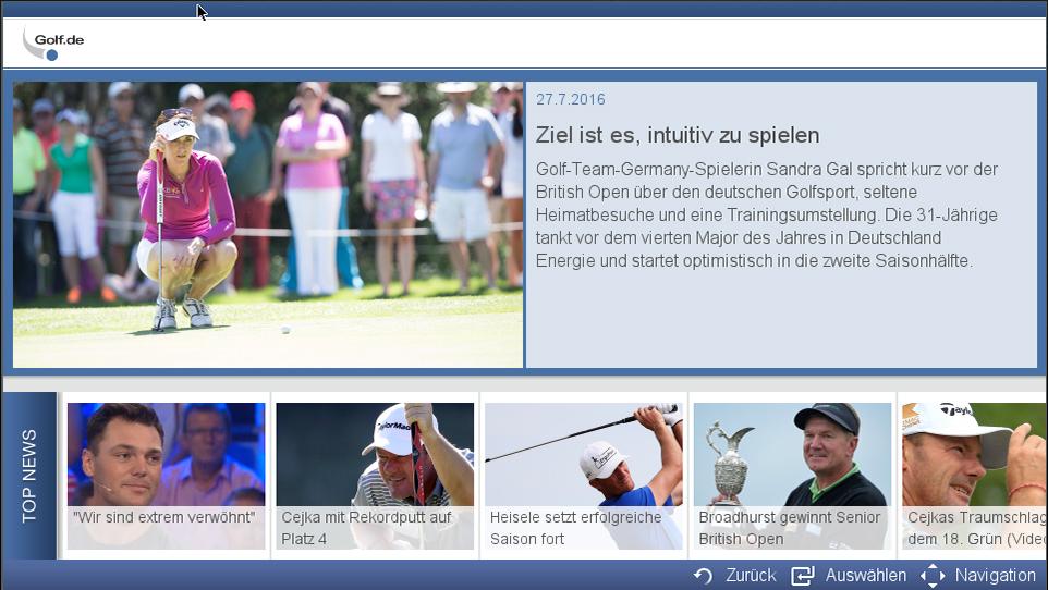 Golf de Smart TV App | Fribu – Smarte Lösungen