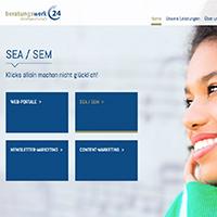 Webseite für ein Leipziger Unternehmen